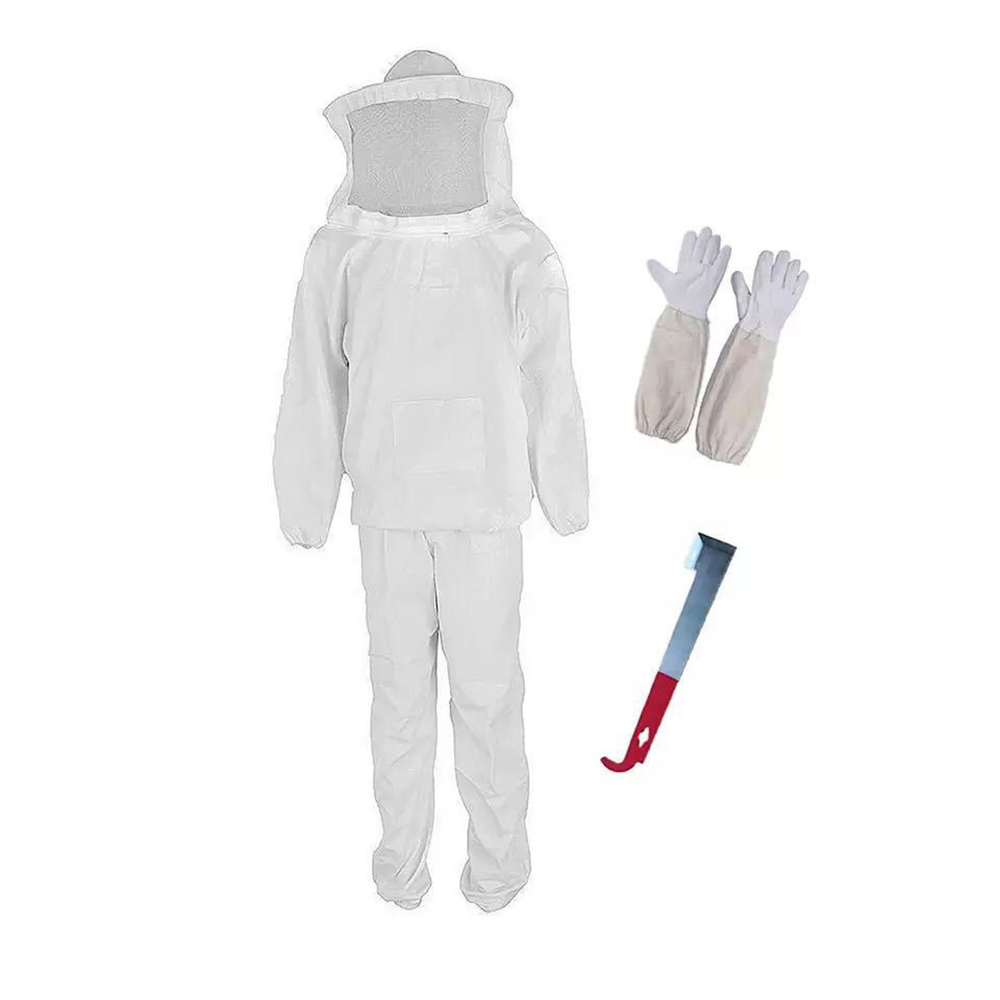 Garden Tool Suit Beekeeping Suit Bee Honey Keeping Equipment Gloves Hive Brush Hook Veil Set