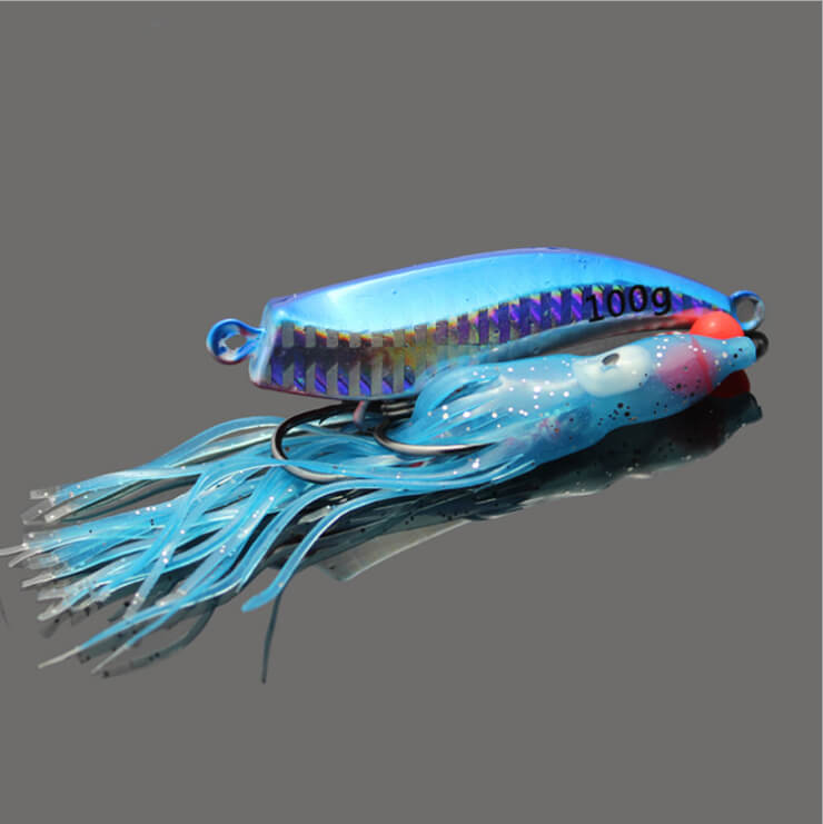 5pcs Metal 60g Inchiku Jig Micro Octo Jigs Fishing Lure Jigging Snapper Slow Fishing Artificial Bait Crankbait Swimbait Luminous цена