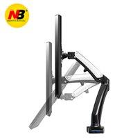 New NB F100 Gas Spring 17 27 inch Desktop LED TV Mount Monitor Holder Arm Ergonomical Mount with 2USB Port Loading 2~6.5kgs