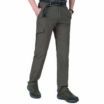Мужские летние рабочие брюки в стиле милитари