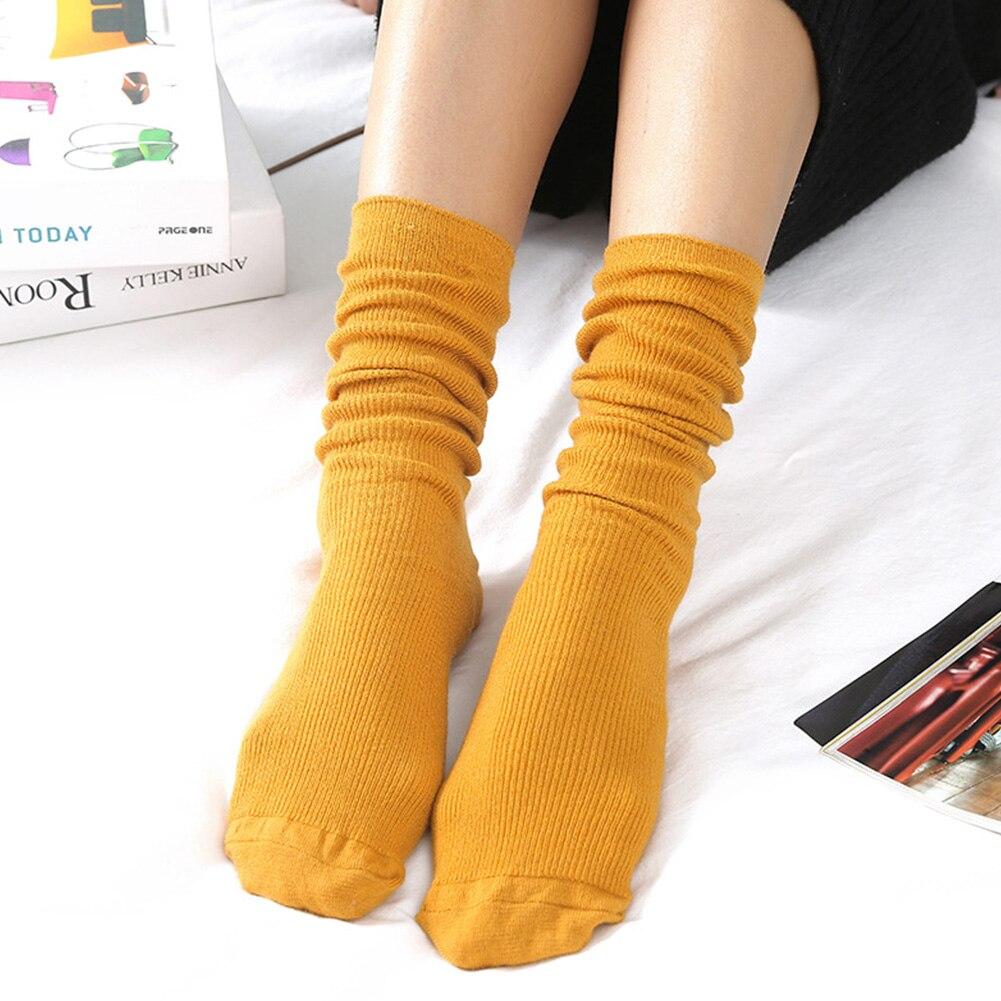 Sen Department Vertical Loose Socks Basic Thin Section Pile Retro