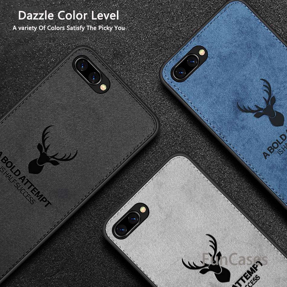 Para Huawei Enjoy 7 8 9 Plus Y9 2018 Y9 2019 Y7 2017 Prime moda alce ciervo patrón TPU paño funda con textura para Huawei Honor 7X