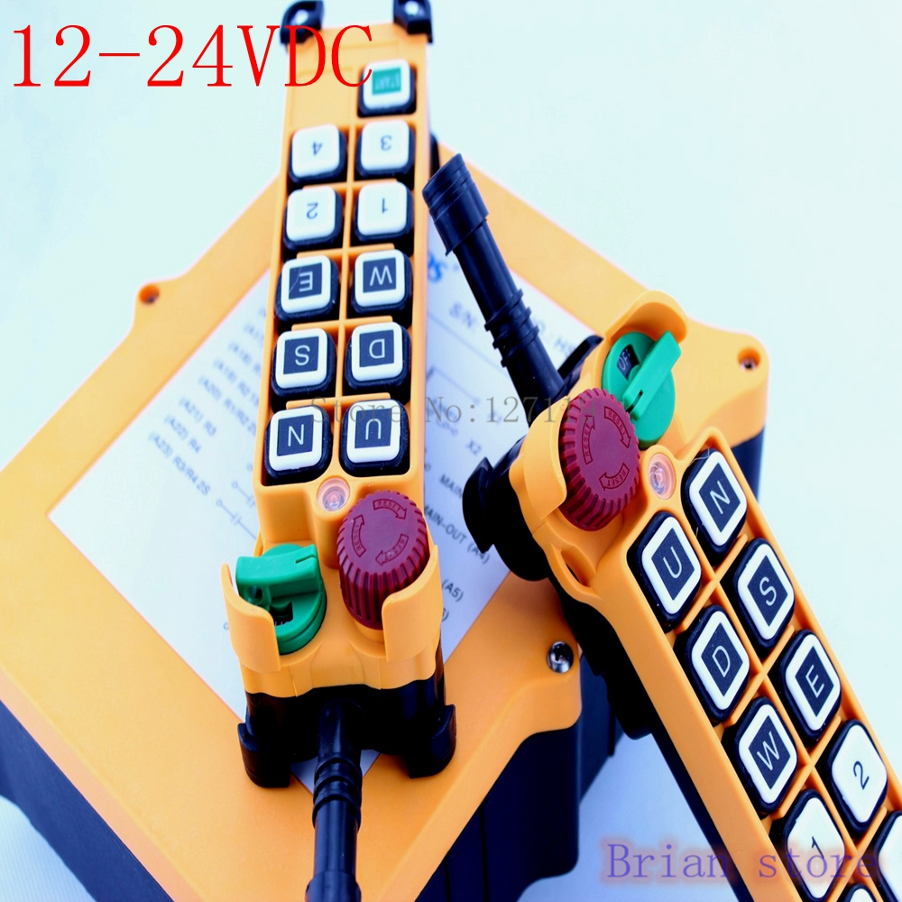 12-24VDC 10 Channels  2 Speed  2 Transmitter Hoist Crane Truck Radio Remote Control System with E-Stop new original inverter 7200ma 7200gs operation panel jnep 31 v jnep 34