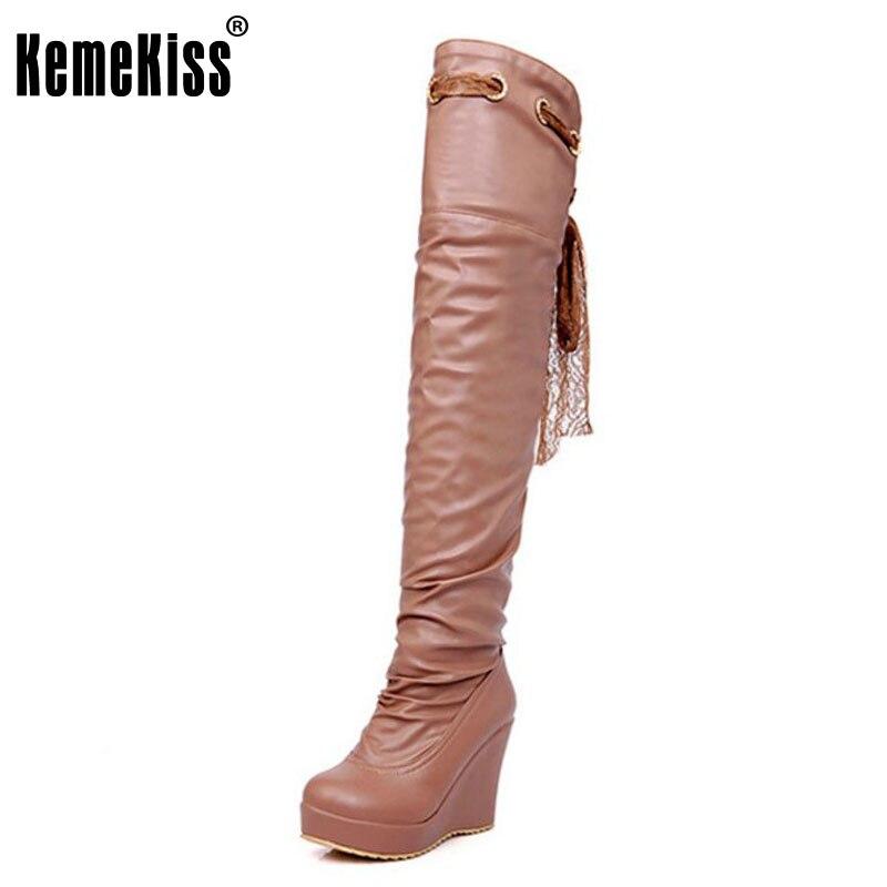 √Kemekiss botas hasta la rodilla del envío libre mujeres nieve ...