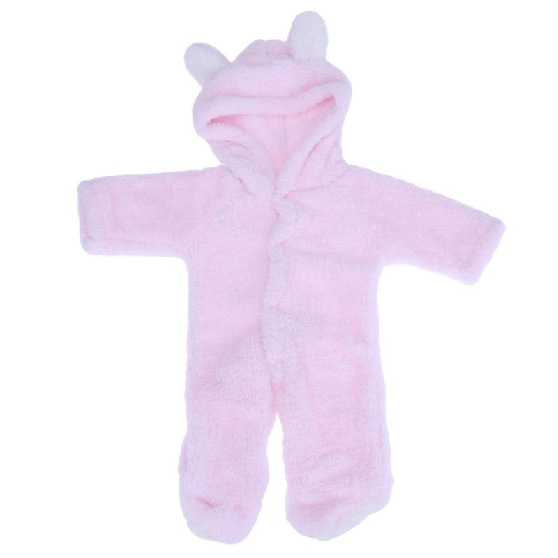 091df2452 Winter Pink Plush Jumpsuit Baby Rabbit Overalls Bunny Romper Spring ...