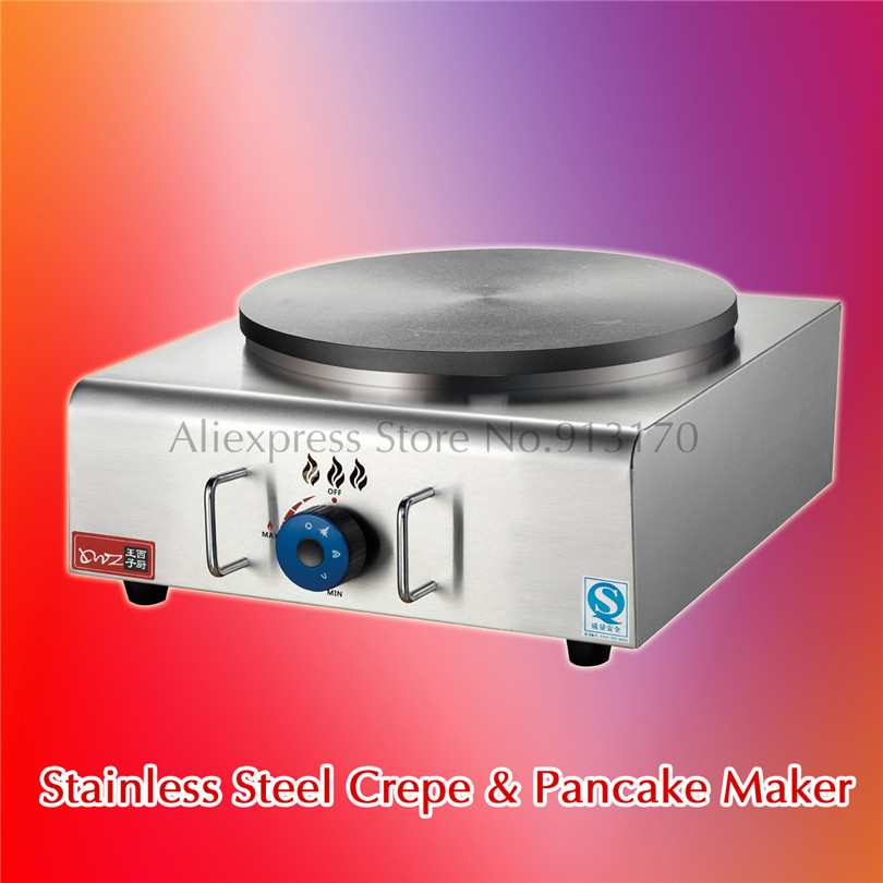 French Crepes Suzette Pancake Maker Gas Sandwich Breakfast Griddle Grill Breakfast Nonstick Cook gas stainless steel pancake crepe maker non stick plate masala dosa griddle blintzes machine grill breakfast nonstick cook