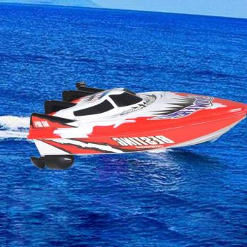 цена на Controlled Boat Remote Control Toy RC Racing Fishing Ship Bait Radio Speed Boat Red Green Rc Boat Hull Toy Rc Speedboat