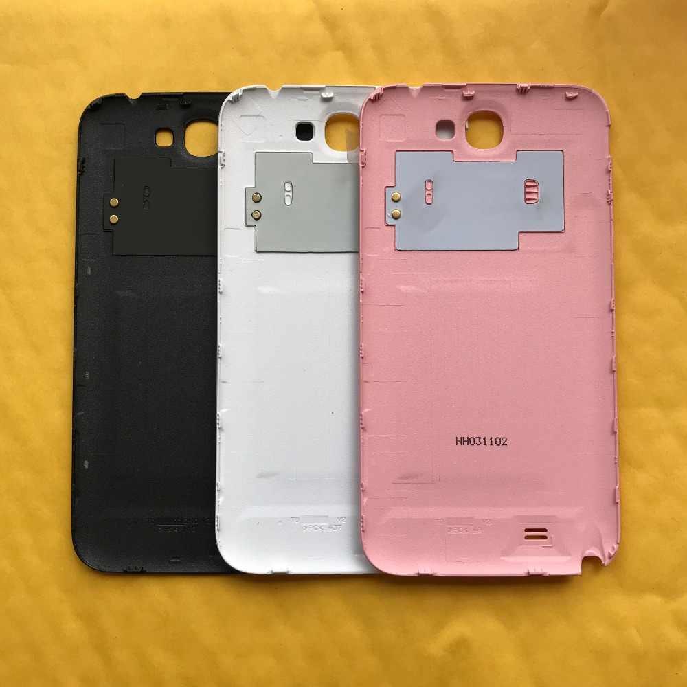 Untuk Samsung Galaxy Note 2 II N7100 N7105 I317 Telepon Asli Bingkai Rumah Kembali Penutup Panel Belakang Pintu dengan NFC Chip