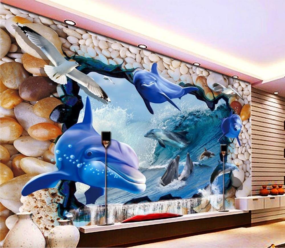 online get cheap dolphin wall mural aliexpress com alibaba group