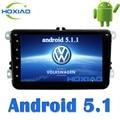 Android 5.1 Gps de Radio Auto 2 Din Coche Reproductor de DVD Para VW Skoda Fabia Octavia Superb Yeti Asiento Volkswagen POLO PASSAT Golf Tiguan