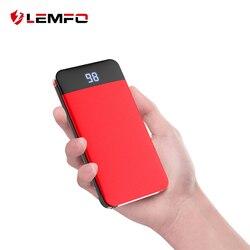 LEMFO Built-in Charging Cable LCD Digital Power Bank 8000Mah Slim Powerbank Slim Poverbank Portable External Battery Charger