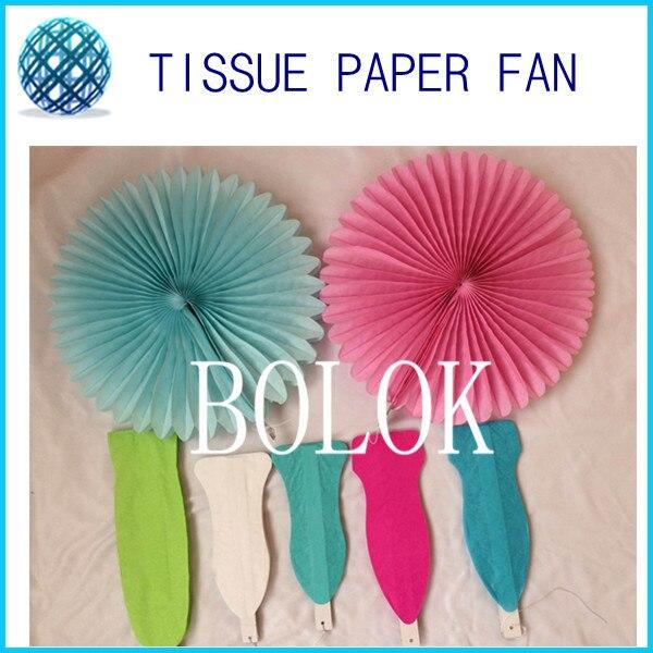 New 5pcs Tissue Paper Fan Diy Crafts Hanging Wedding: 14inch(35cm)5pcs/lot Tissue Paper Fan Tissue Paper