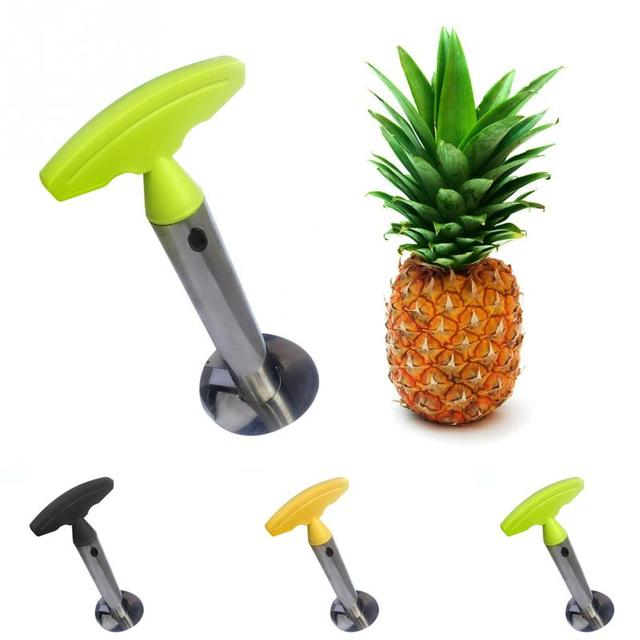 1Pc Stainless Steel Easy to use Pineapple Peeler Accessories Pineapple Slicers Fruit Knife Cutter Corer Slicer Kitchen Tools 2