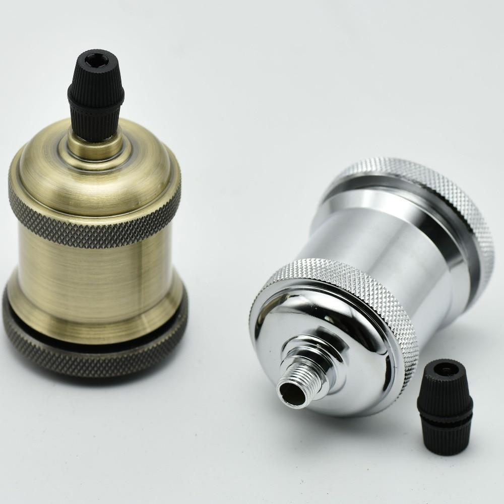 1PC E27 Antik Lampa Sahibi Loft Vint Edison Lampa Soket Vintaj - İşıqlandırma aksesuarları - Fotoqrafiya 6
