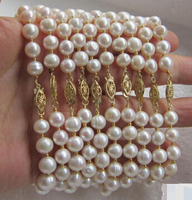 DYY 820 WHOLESALE 10 PC 8 9MM AAA++ WHITE SOUTH SEA PEARL BRACELET 7.5 IN