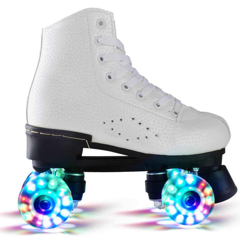 Yanıp Sönen çift Tekerlekler Paten Ayakkabı Flaş Rulo Kayak Ayakkabıları Renkli Parlayan Paten Spor Ayakkabı Erkek Kadın Için Paten Ayakkabıları Aliexpress