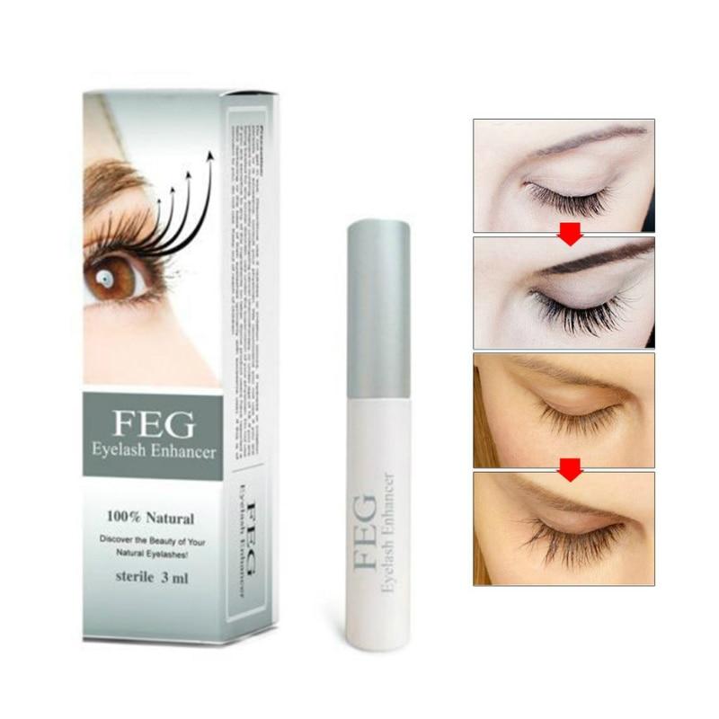 FEG Eyelash Enhancer 100% Original FEG Eyelash Growth Treatment Eyelash Enhancer Serum Eyelash Liquid Makeup Beauty Eyes Curling joelheira magnética alívio