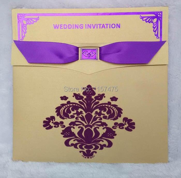 popular purple and gold wedding invitations-buy cheap purple and, Wedding invitations