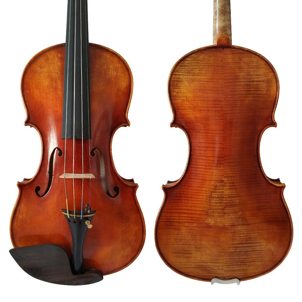Trasporto Libero Copia Guarneri del Gesu 1742 100% Handmade Vernice Ad Olio Violino FPVN05 Europeo di Legno con Cassa Della Gomma Piuma e Fiocco