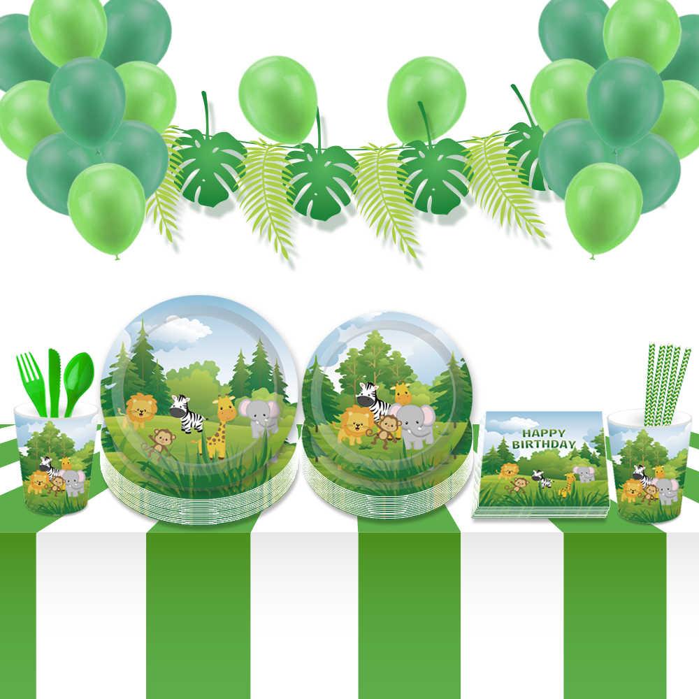 Decoraciones De Fiesta De Cumpleaños De Animales De La Selva