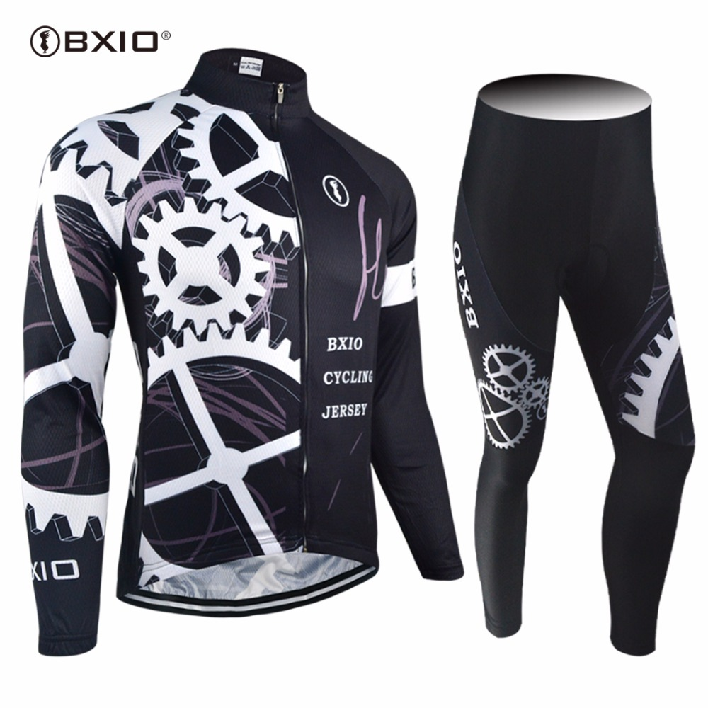 New Arrival Bxio Cycling Sets Pro Racing Bicycle Clothing Autumn Long Sleeve Uniformes De Ciclismo Hombre