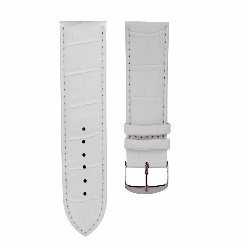 ส่ง Pogo Pins นุ่ม Sweatband สายรัดข้อมือหนัง Watchband montres relojes mujer dames horloges Nahkahihna Cinta พจนานุกรม correa