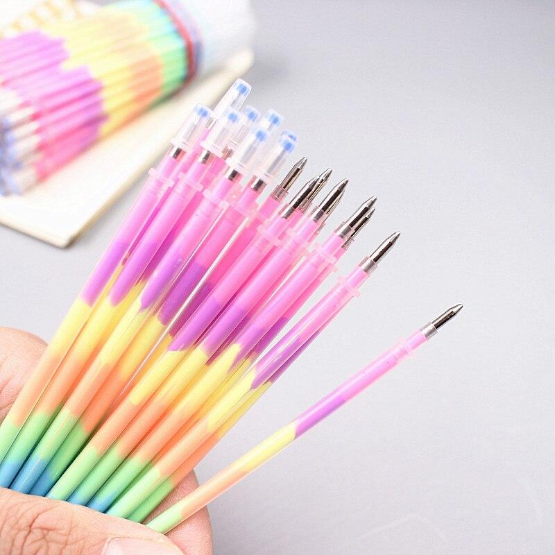 20 шт./лот multi Цвет Радуга пополнения Маркеры Гелевые ручки Шариковая ручка студенты граффити флуоресцентный заправки
