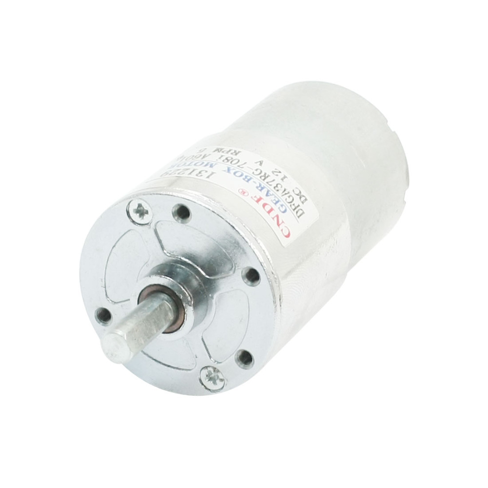 UXCELL(R) High Quality 1pcs DC 12V  5RPM 6mm Shaft Torque Powerful Gear Box Motor