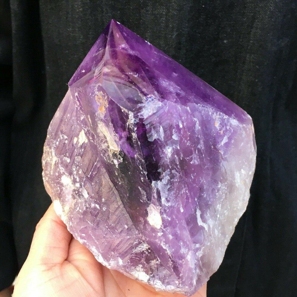 1000g naturel violet cristal quartz tige colonne aura guérison