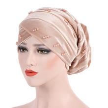 Candy Colors Women Beading Velvet Headwrap African Head wrap Tie Scarf