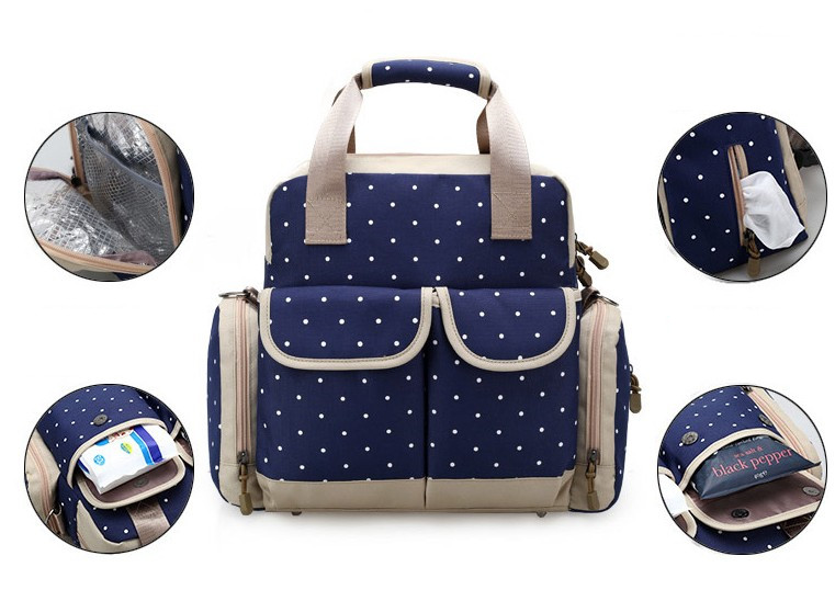 Discount! Baby Diaper Bags Maternity Mummy Nappy Bags Flower Style Mom Handbag Baby Stroller Bag