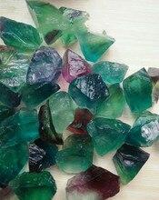 100g pure natural crystal original stone fluorite color green yellow white gravel pendant