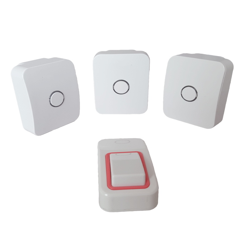 NO battery waterproof wireless doorbell with 25 ring tones.loud sound door chime for the old.3receivers&1button for big house kinetic cordless smart home doorbell 2 button and 1 chime battery free button waterproof eu us uk wireless door bell