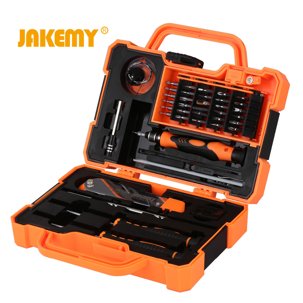 JAKEMY 45 in 1 Precision Torx Magnetic Screwdriver Set Bits For Electronics Hand Tools Kit For Mobile Phone Repair Laptop iPhone 33 in 1 interchangeable precision screwdriver set magnetic screwdriver kit repair tools for laptops mobile devices wristwatches
