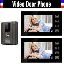 7 Inch Touch Screen Video Door Phone Intercom System IR Night Version Camera Video Intercom Kit for House Villa