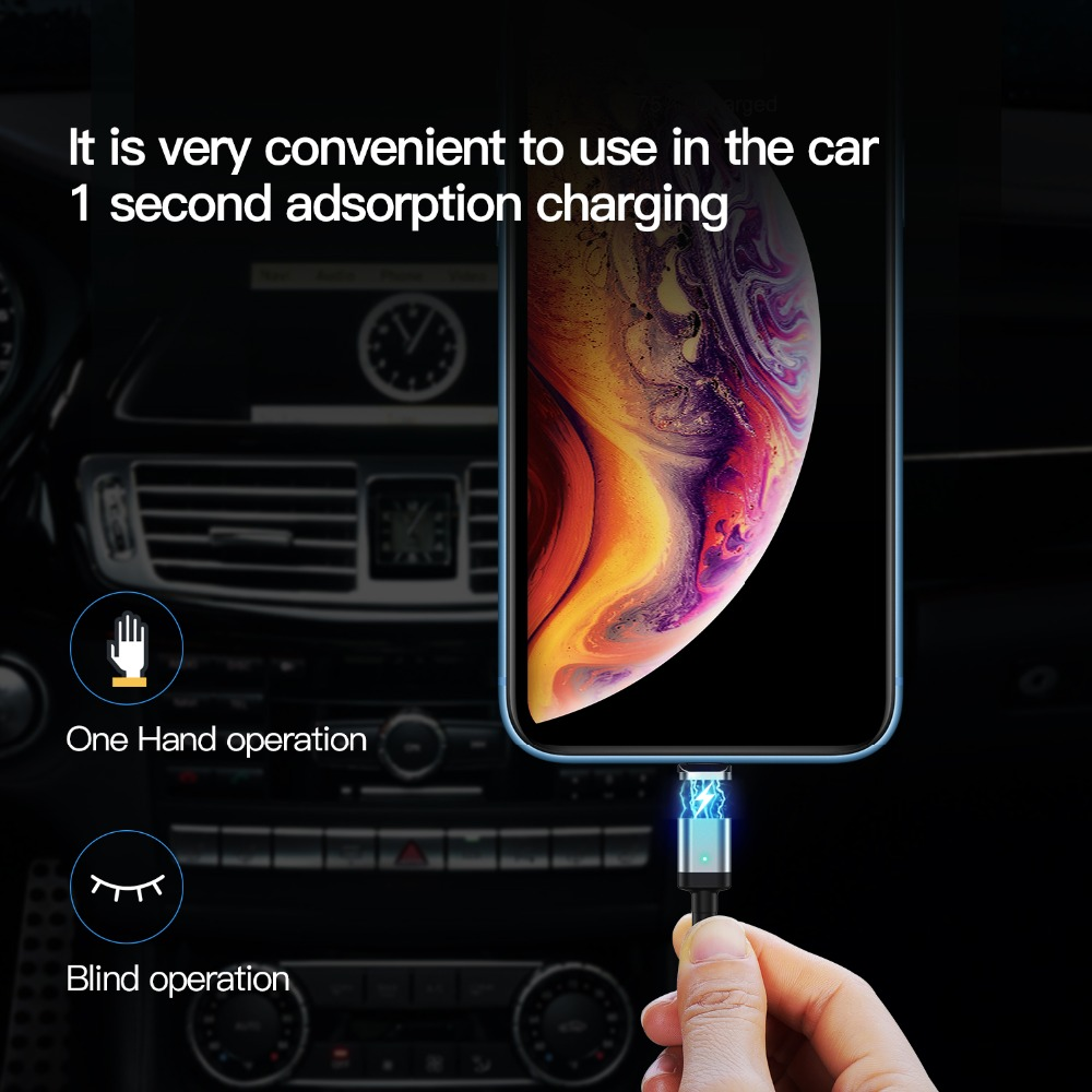 Suntaiho Magnetic Cable Micro usb Type C For iPhone Magnet Charger Data Fast Charging Type-C usb c For iphone Samsung xiaomi mi9