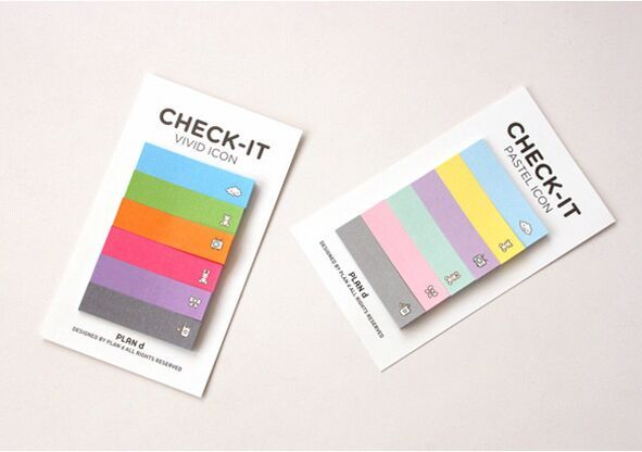 New cute rainbow Sticky Notes Memo Pad  memo boards Bookmark School Office Supply for student memo gift