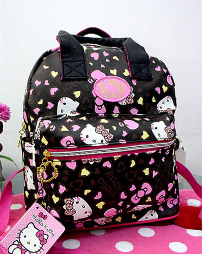 New Cute Hello Kitty Backpack Bag School Bag Purse yey 3303