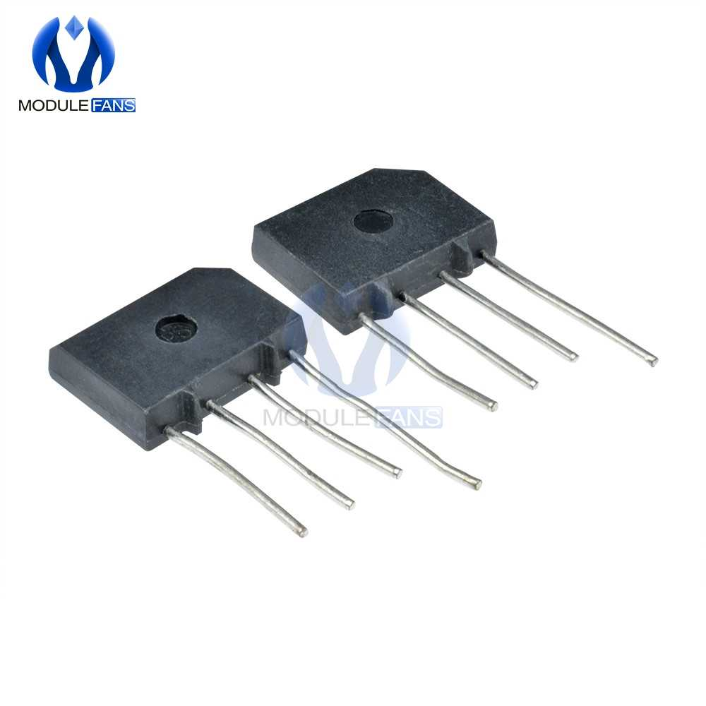 5PCS Diy Elektronische Hohe Temperatur Löten KBP310 SIP-4 3A 1000V Diode Bridge Rectifier Single Phase Bridge gleichrichter