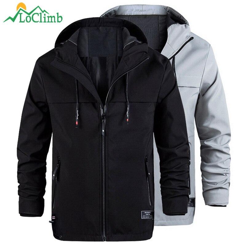 locmemb jaqueta softshell ao ar livre dos homens casaco esporte blusao trekking caminhadas jaquetas a prova