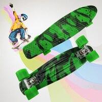 22 Retro Cruiser Camouflage printed Children's skateboard skate scooter skateboarding board 4 wheel skates longboard CL54