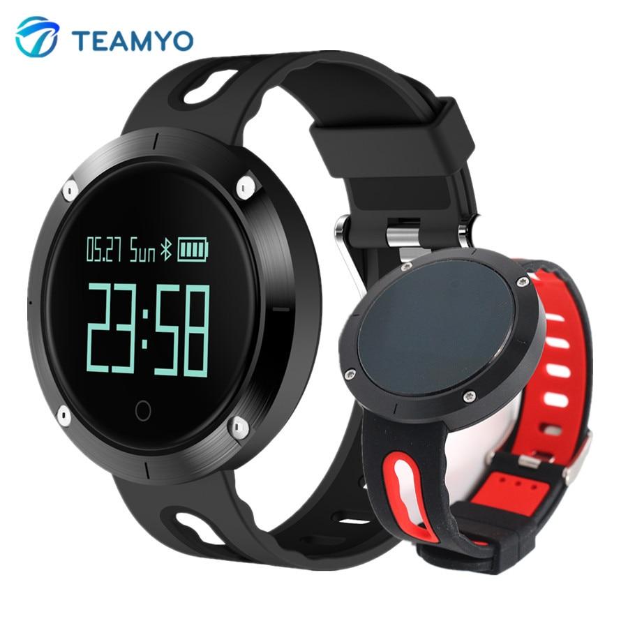 Teamyo DM58 Смарт Браслет для измерения кровяного давления часы фитнес трекер для измерения сердечного ритма умный Браслет IP68 Водонепроницаемы