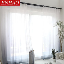 Merveilleux ENHAO Solid Tulle Curtains For Living Room 3d Curtains Kitchen Modern Sheer  Curtains For Bedroom Elegant