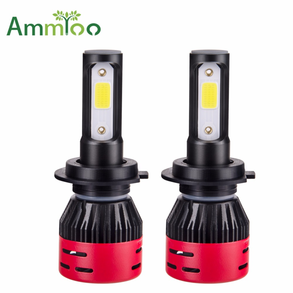 AmmToo Mini H7 LED Car Headlight H4 Led font b Lamp b font 9005 9006 Fog