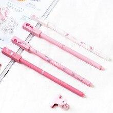 Дешевые «Фламинго» 4 шт. Симпатичные гелевая ручка Набор Рисунок пишущих ручек 0,5 мм черные чернила канцелярские подарок для офиса