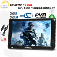 10 Inch DVBT2 DVBT Analog Version Digital Analog Mini Led HD Portable TV All In 1