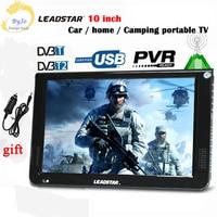 10 Inch DVBT2 DVBT Analog Version Digital Analog Mini Led HD Portable TV All In 1