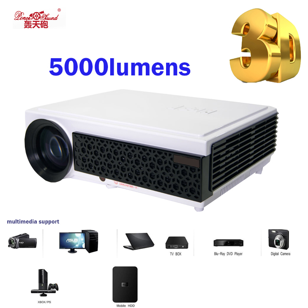 Poner Saund Full Hd New Mini Projector Proyector Led Lcd: Poner Saund Hot Selling LED96+ Real 3D Projector HDMI Home