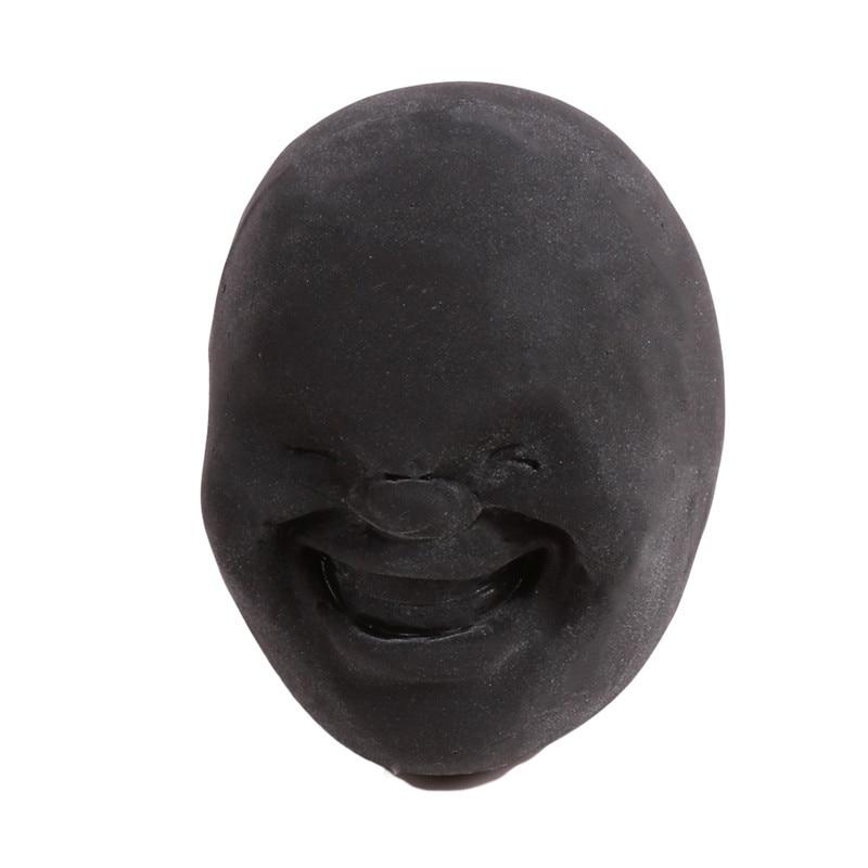 Забавная Новинка каомару, антистрессовая игрушка с мячом, с человечеловеческим лицом, удивище, сюрприз, эмоция, шар из смолы, расслабляющая, для взрослых, игрушка для снятия стресса, подарок - Цвет: Black 3