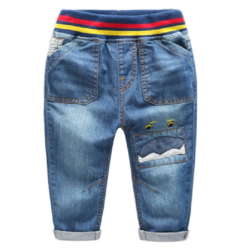 Hot Selling Size 90 130 2016 Solid Children Pants For Boys Jenas Trousers Harem Pants Blue